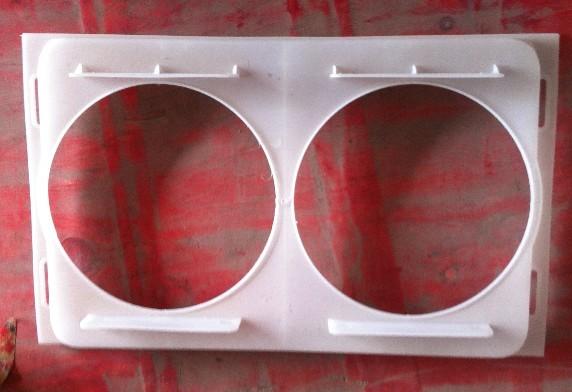 集风罩电子扇罩双孔-白